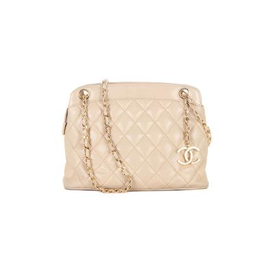 Mademoiselle classic nude top-zip chain bag